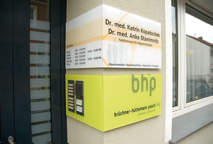 Objektbeschilderungen von infographik - Bhp architekten ...
