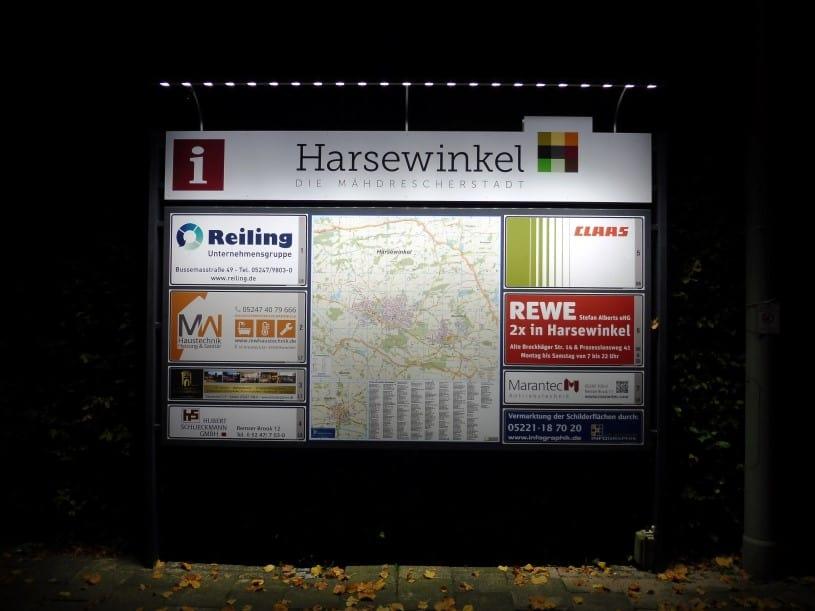 Infopoints in Harsewinkel-Marienfeld - Infographik