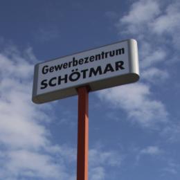 Werbeturm im Gewerbegebiet Schötmar, Bad Salzuflen