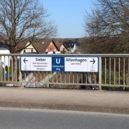 CD-Wegweiser - Haltestelle Schelpmilser Weg in Bielefeld - Stadtbahnlinie 2