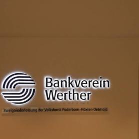 Bankverein Werther - Wand innen - beleuchtet