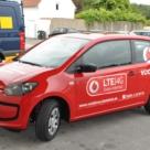 Fahrzeugbeschriftung: Vodafone