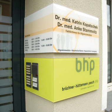 bhp Architekten - Objektbeschilderung