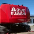 Asphalt Kleemann - Bagger - Fahrzeugbeschriftung