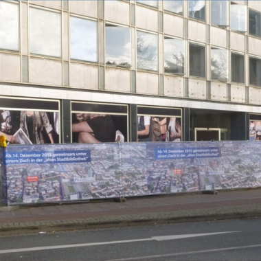 Bauzaunbanner - Volksbank Bielefeld-Gütersloh