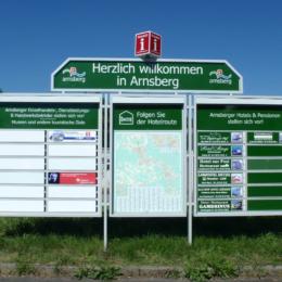 Hotelroute Arnsberg mit Plan