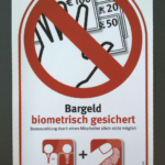 Aufkleber - Bargeld biometrisch gesichert
