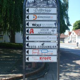 Bielefeld - Ortskern - Firmenwegweiser