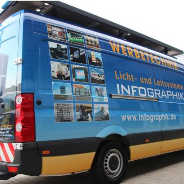 Infographik Firmencrafter - Fahrzeuggestaltung