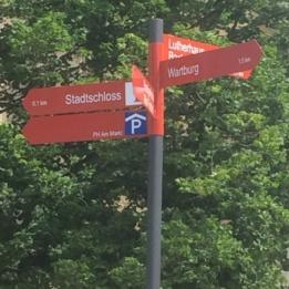 Eisenach - Lutherjahr - Neues Touristisches Leitsystem