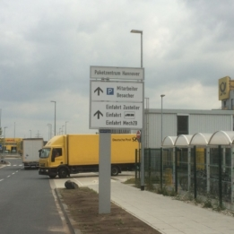 Hannover - Leitsystem - Paketzentrum